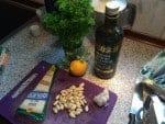 Ingredienser til persillepesto