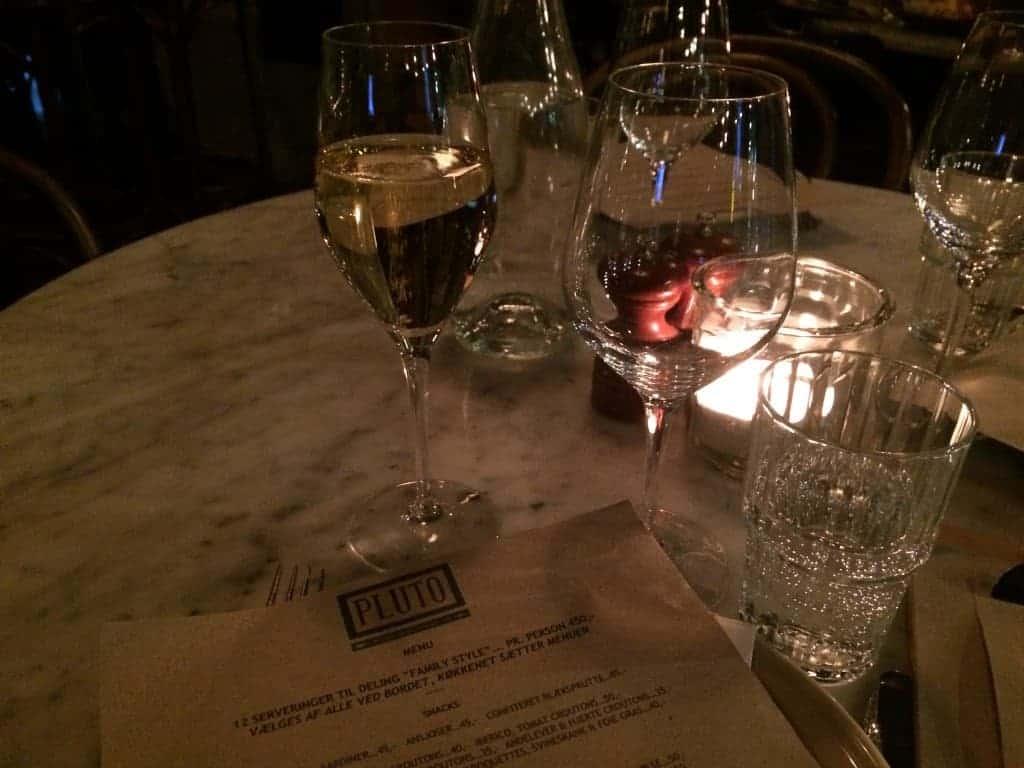 Et lille glas champagne at starte på