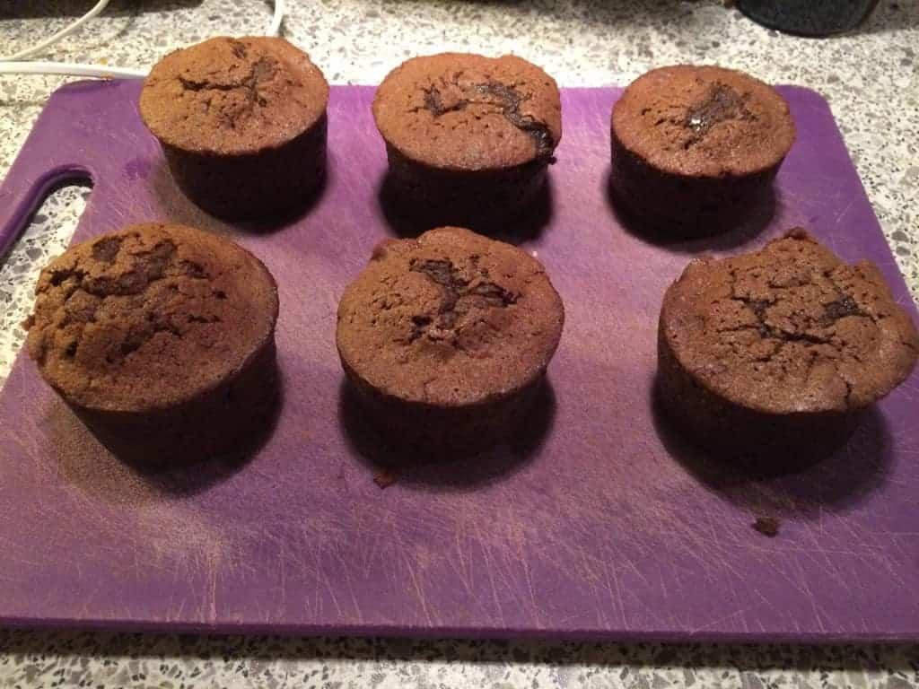 Nøgne chokolademuffins